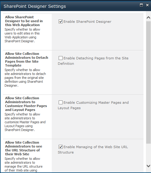 SharePoint-Designer-WebApp-Settings