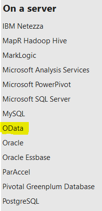 Connect to OData